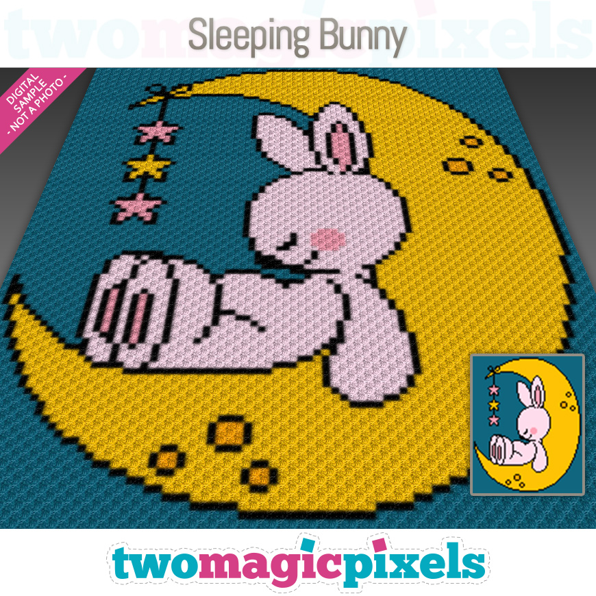 Sleeping Bunny by Two Magic Pixels