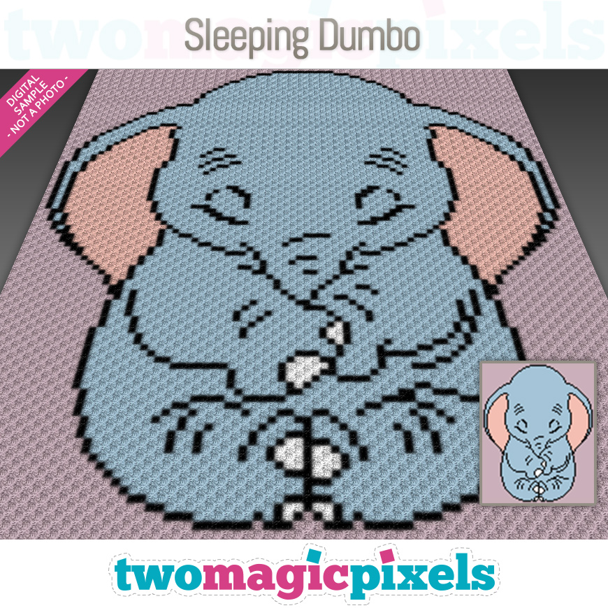 Sleeping Dumbo by Two Magic Pixels