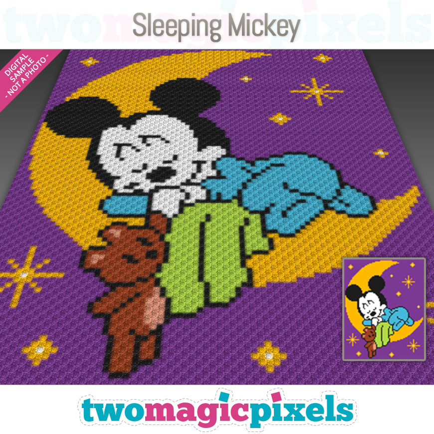 Sleeping Mickey by Two Magic Pixels