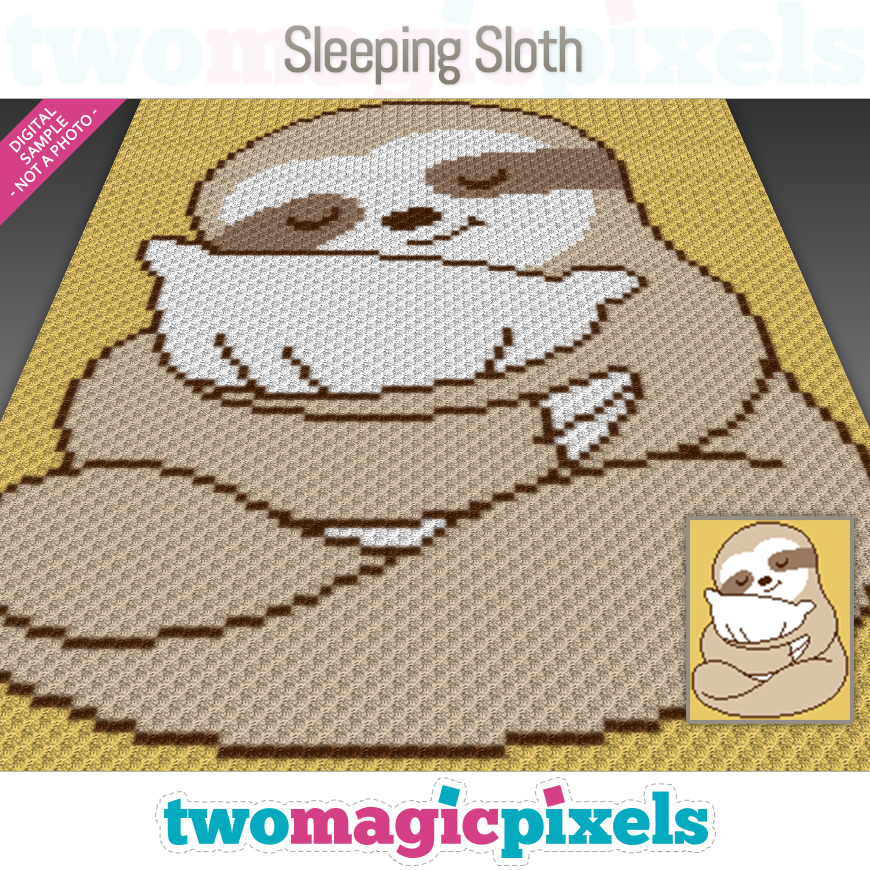 Sleeping Sloth by Two Magic Pixels