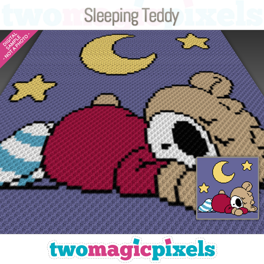 Sleeping Teddy by Two Magic Pixels