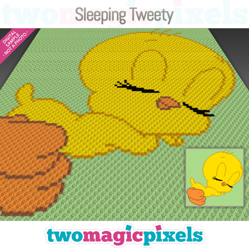Sleeping Tweety by Two Magic Pixels