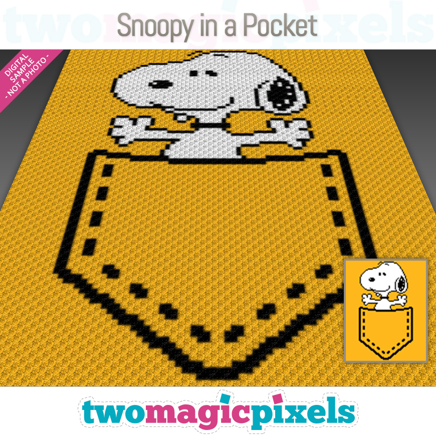 Snoopy in a Pocket by Two Magic Pixels