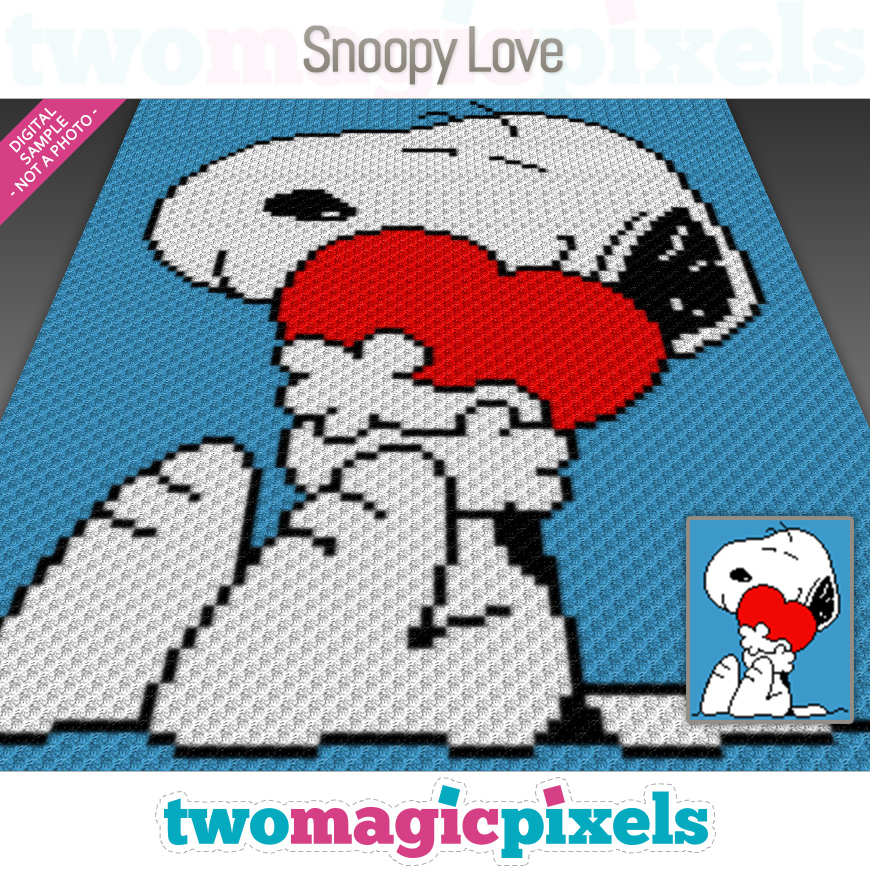 Snoopy Love by Two Magic Pixels