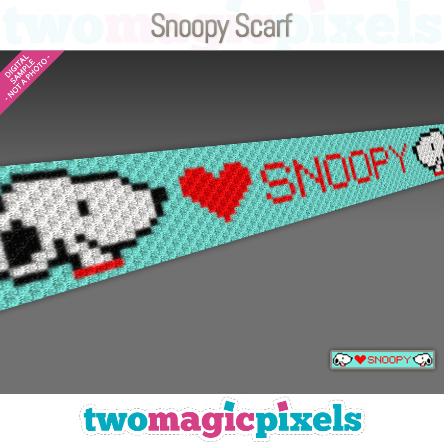 Snoopy Scarf by Two Magic Pixels