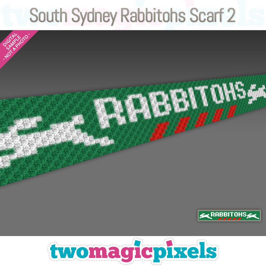 South Sydney Rabbitohs Scarf 2 by Two Magic Pixels