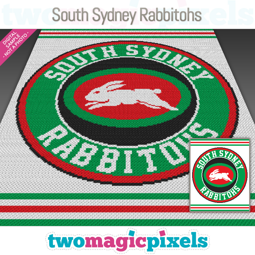 South Sydney Rabbitohs by Two Magic Pixels