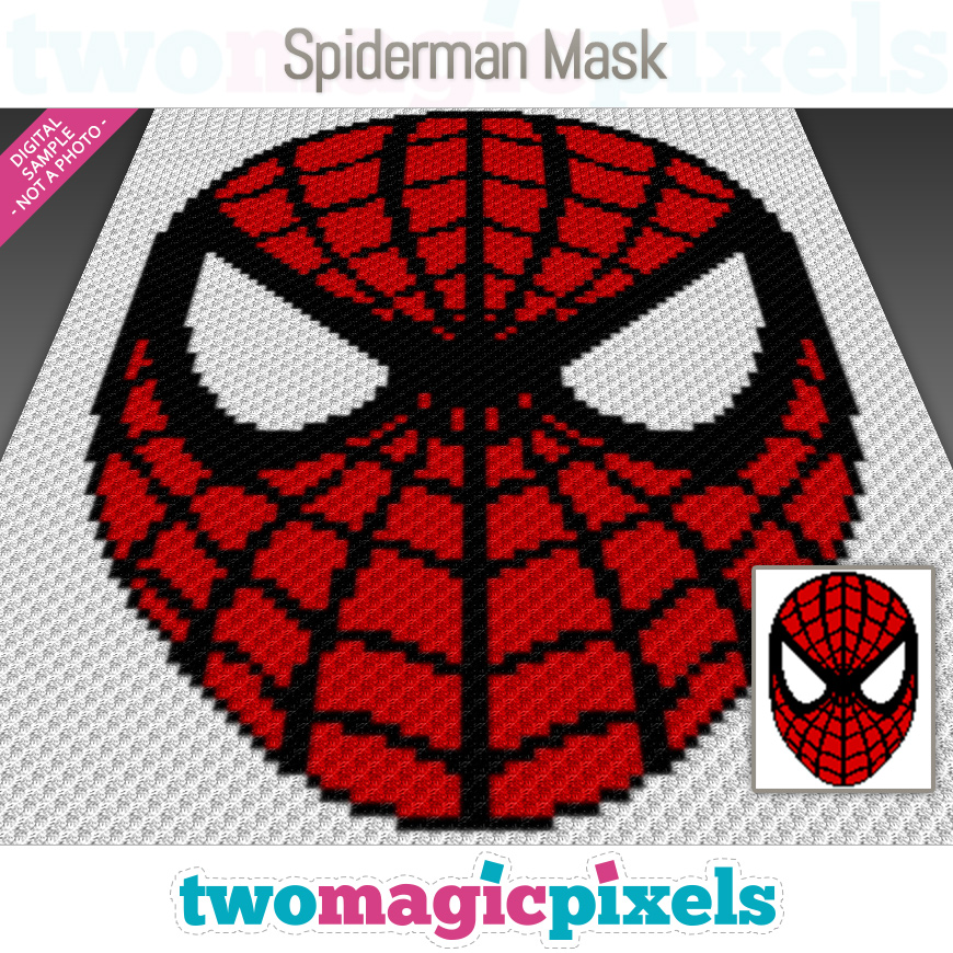 Spiderman Mask by Two Magic Pixels