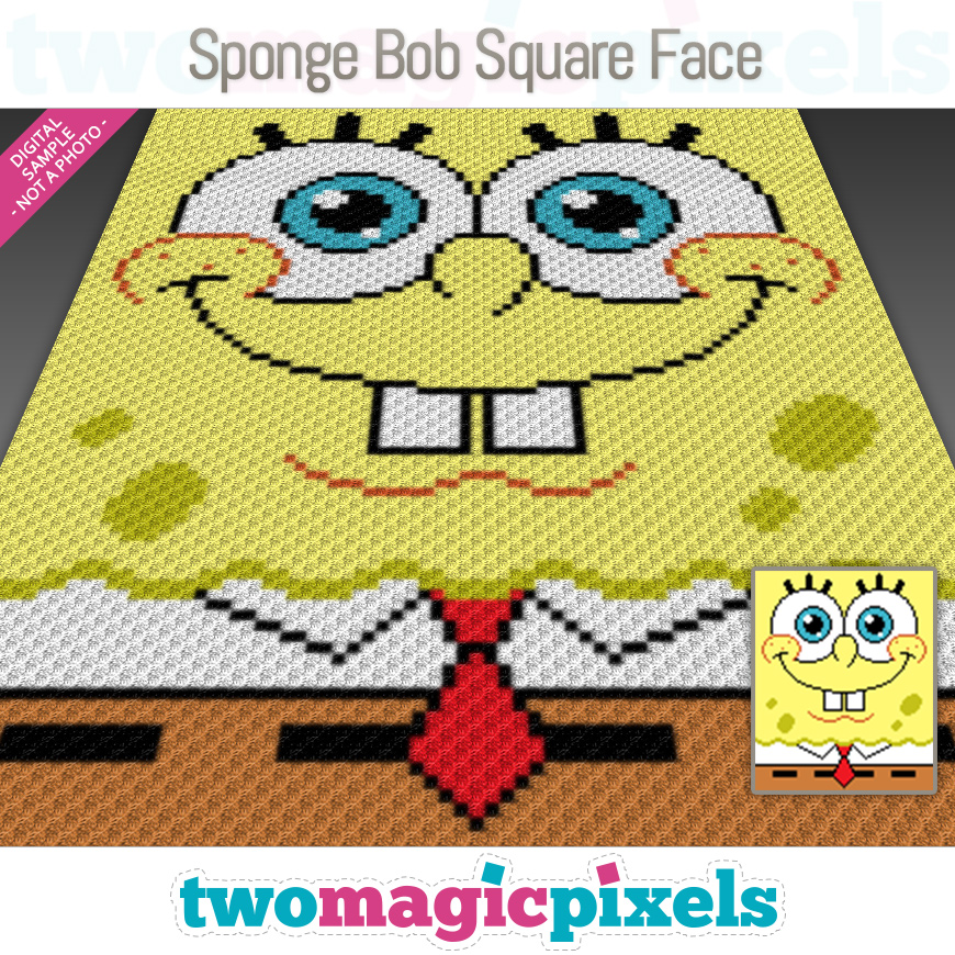Sponge Bob Square Face by Two Magic Pixels