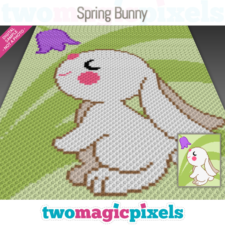 Spring Bunny by Two Magic Pixels