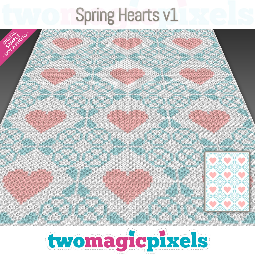 Spring Hearts v1 by Two Magic Pixels