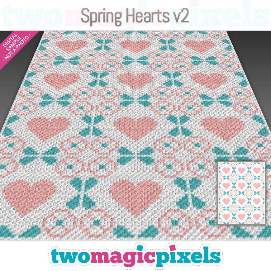 Spring Hearts v2 by Two Magic Pixels