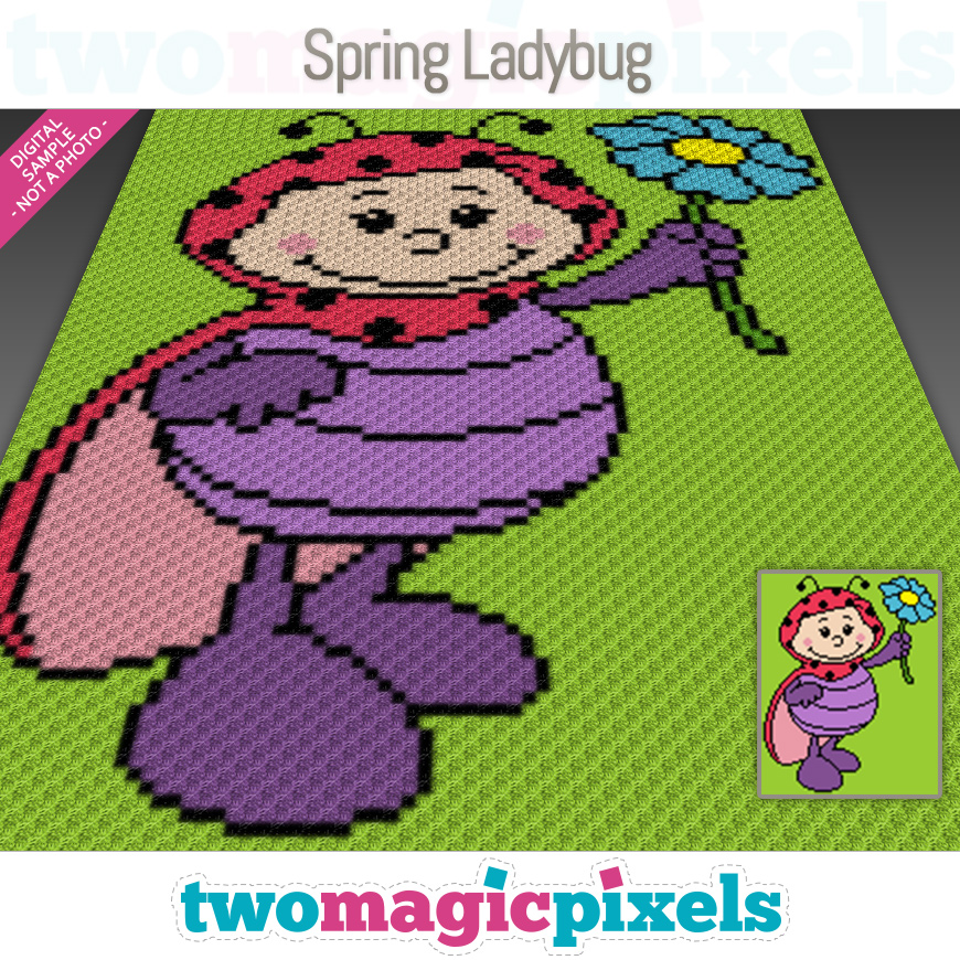 Spring Ladybug by Two Magic Pixels