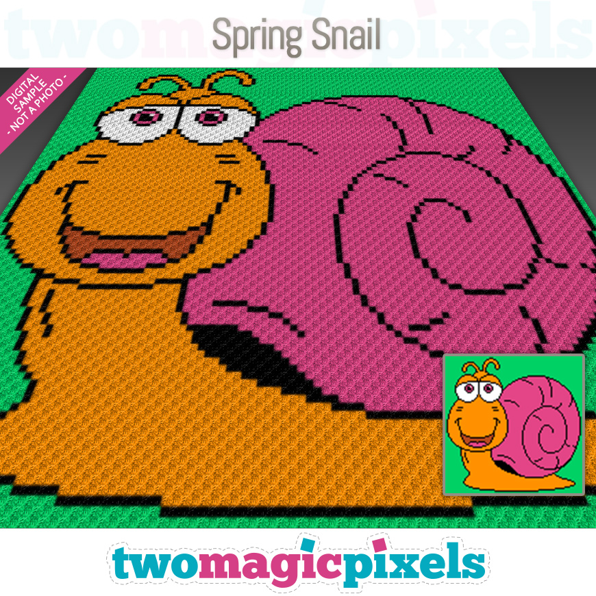 Spring Snail by Two Magic Pixels
