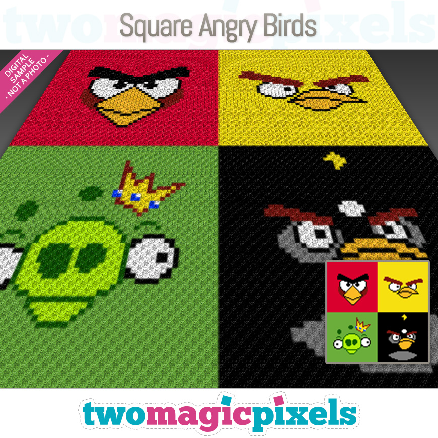 Square Angry Birds by Two Magic Pixels
