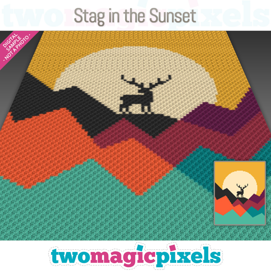 Stag in the Sunset by Two Magic Pixels