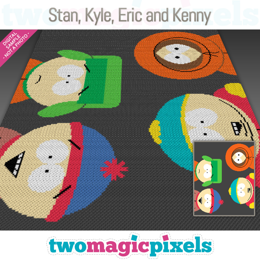 Stan, Kyle, Eric and Kenny by Two Magic Pixels