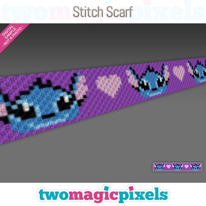 Stitch Scarf by Two Magic Pixels