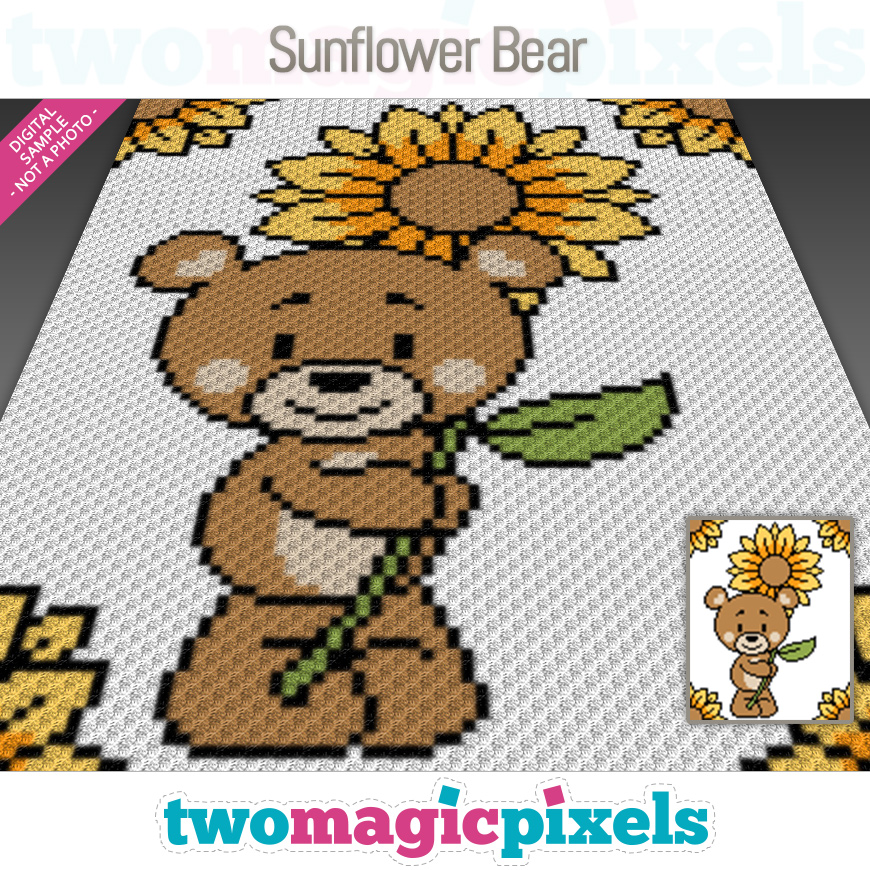 Sunflower Bear by Two Magic Pixels