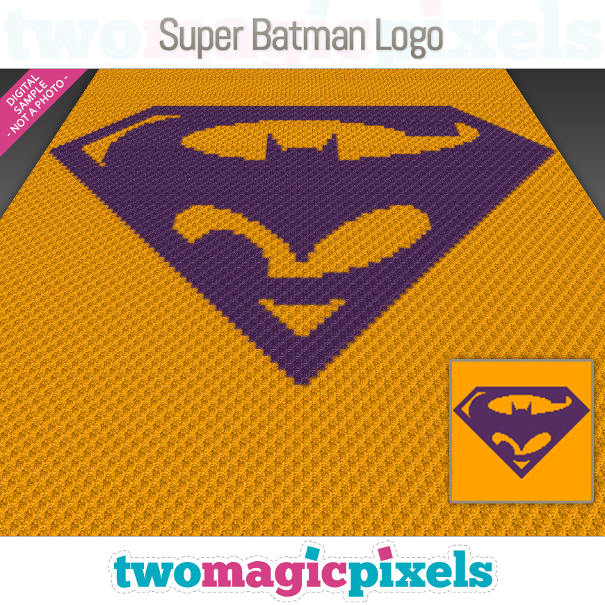 Super Batman Logo by Two Magic Pixels