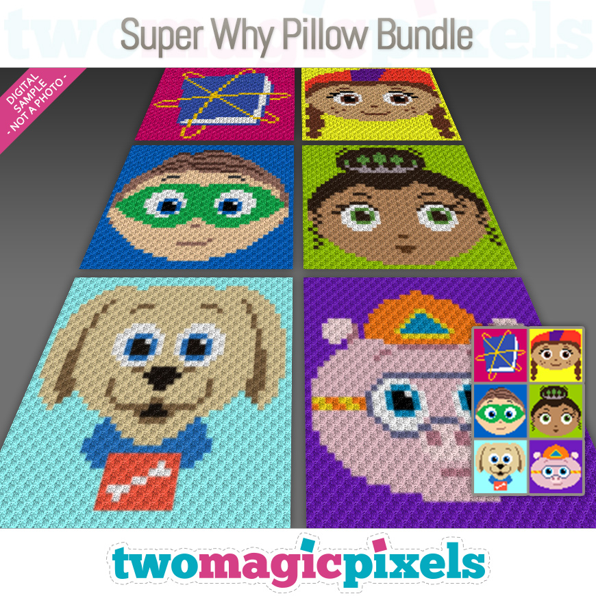 Super Why Pillow Bundle by Two Magic Pixels