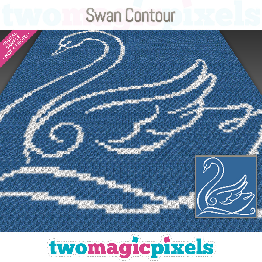 Swan Contour by Two Magic Pixels