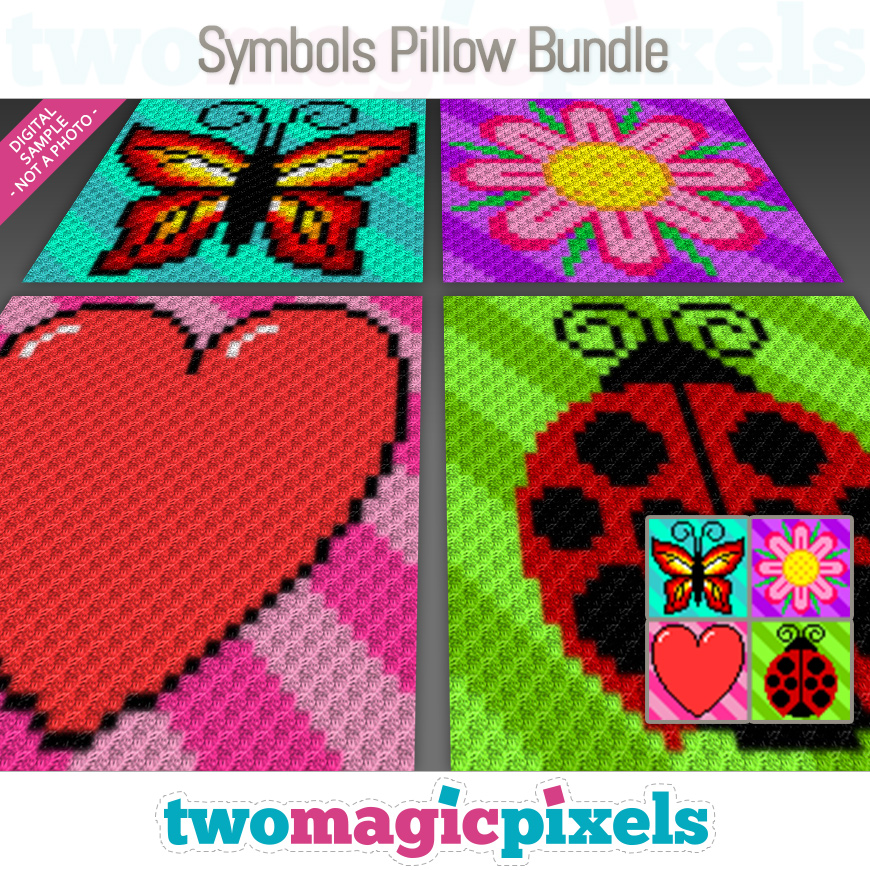Symbols Pillow Bundle 1 by Two Magic Pixels