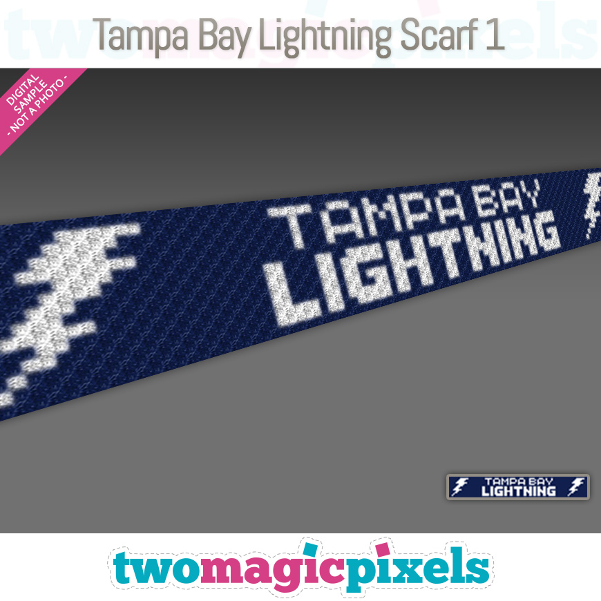 Tampa Bay Lightning Scarf 1 by Two Magic Pixels