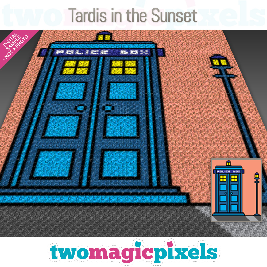 Tardis In The Sunset by Two Magic Pixels