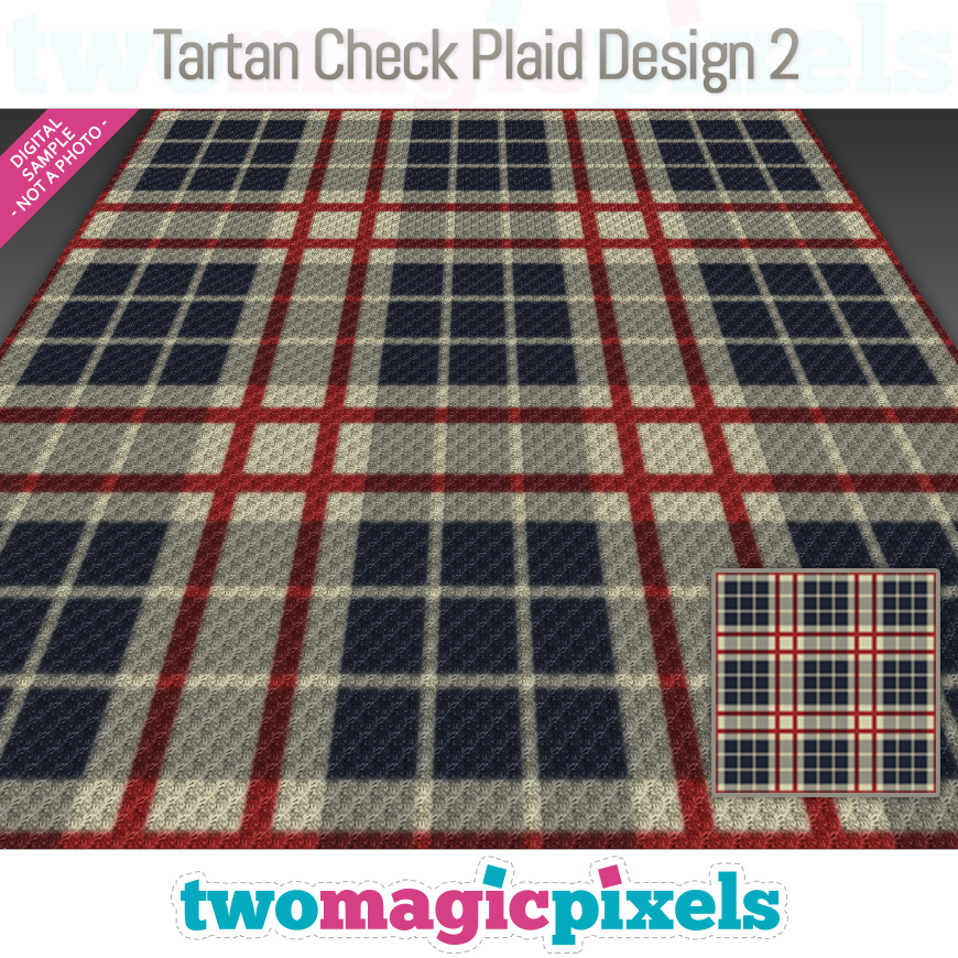 Tartan Check Plaid Design 2 by Two Magic Pixels
