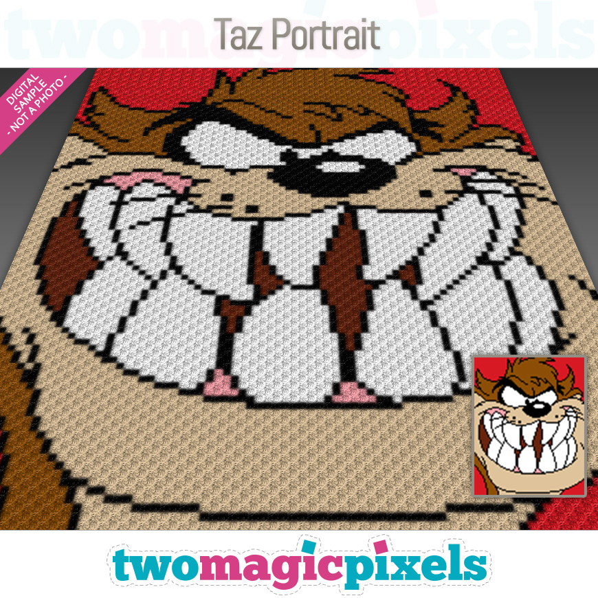 Taz Portrait by Two Magic Pixels