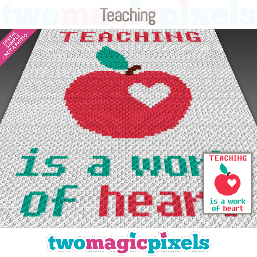 Teaching by Two Magic Pixels