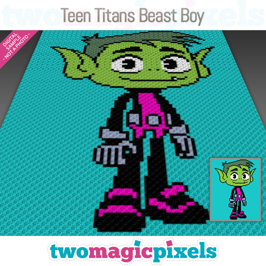 Teen Titans Beast Boy by Two Magic Pixels