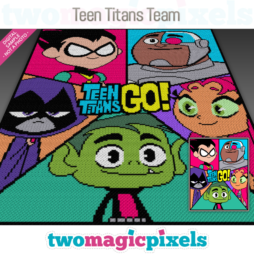 Teen Titans Team by Two Magic Pixels