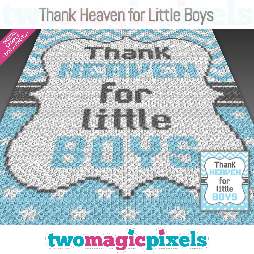 Thank Heaven for Little Boys by Two Magic Pixels