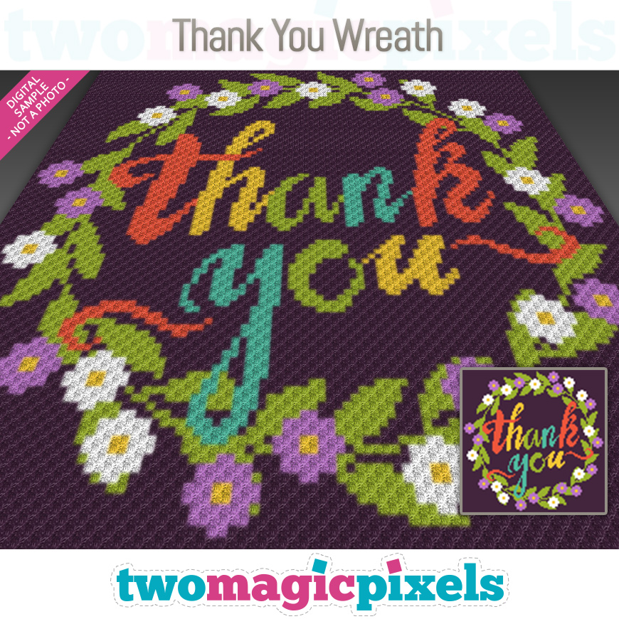 Thank You Wreath by Two Magic Pixels