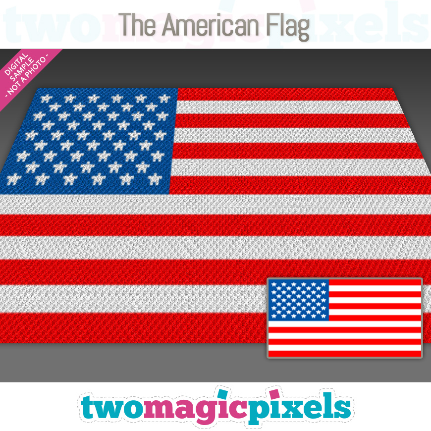 The American Flag by Two Magic Pixels