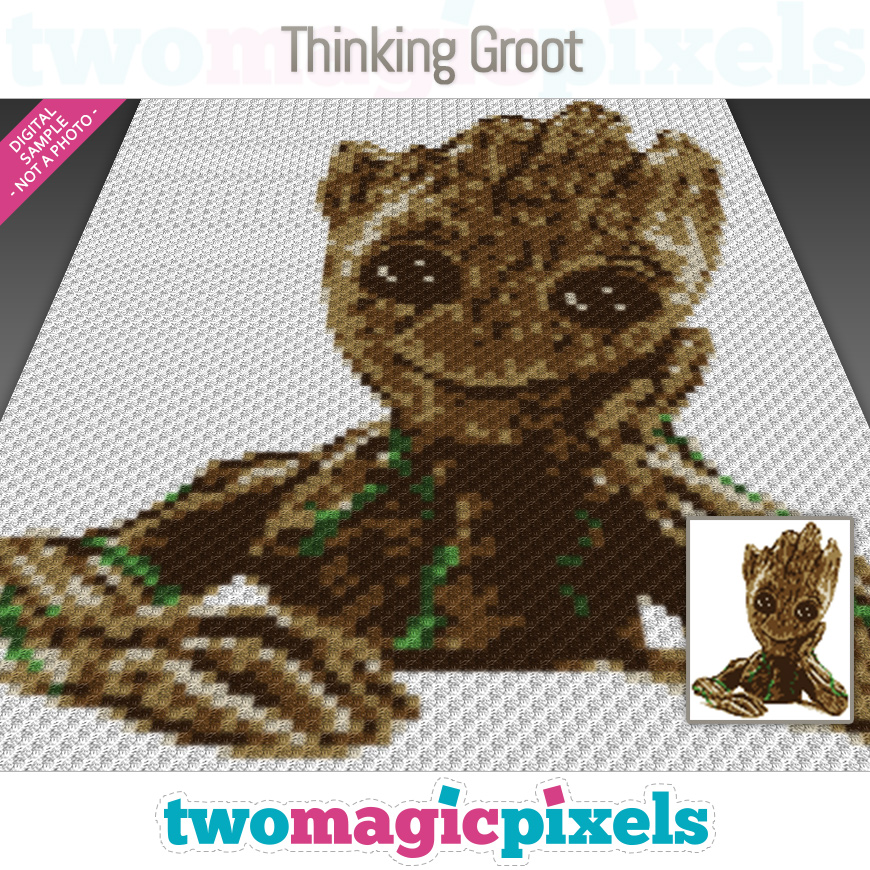 Thinking Groot by Two Magic Pixels