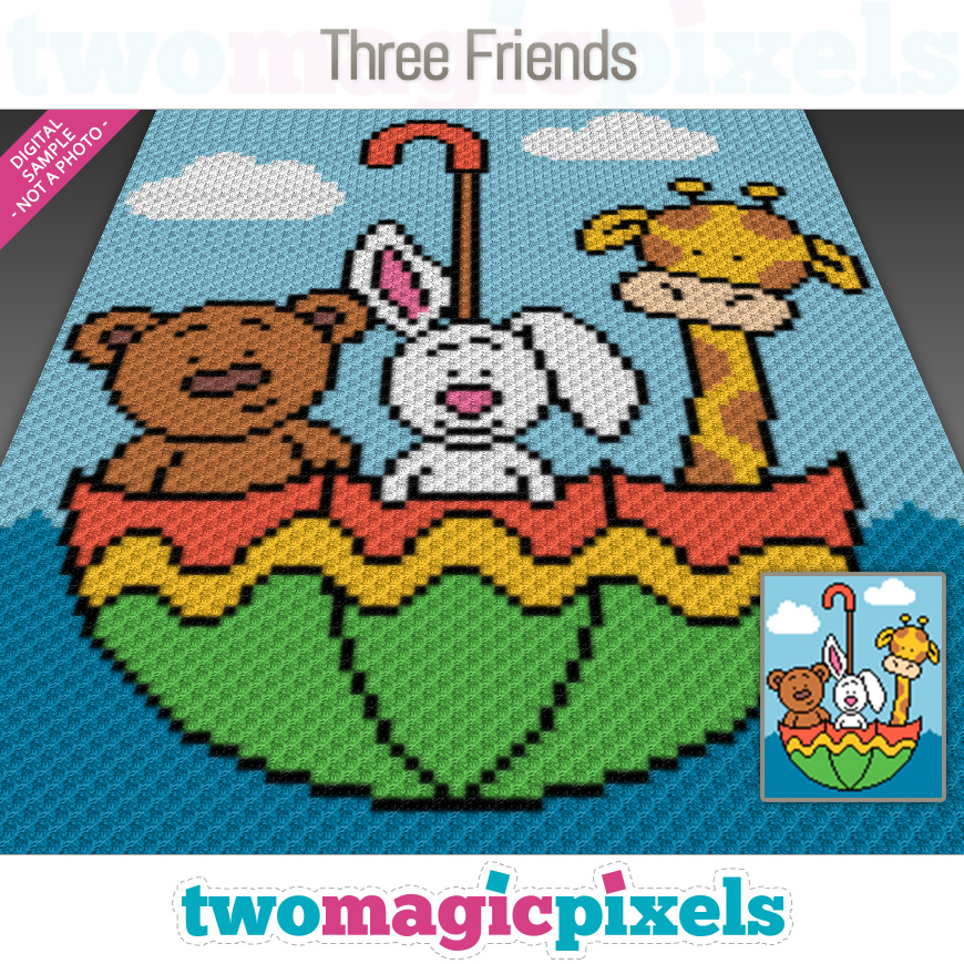 Three Friends by Two Magic Pixels