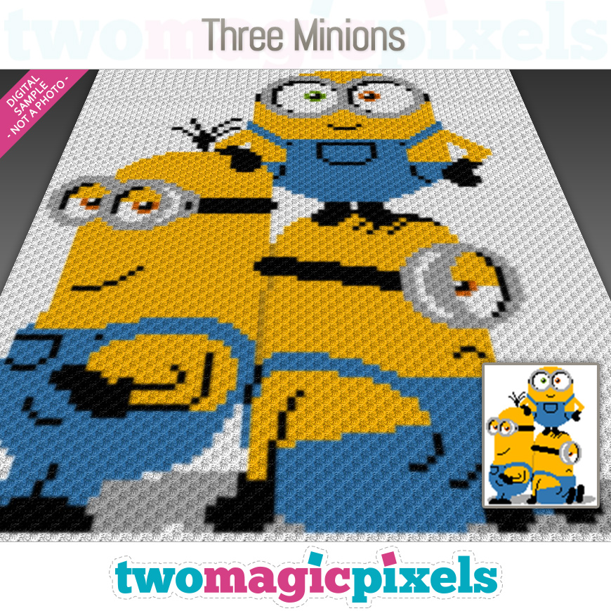 Three Minions by Two Magic Pixels