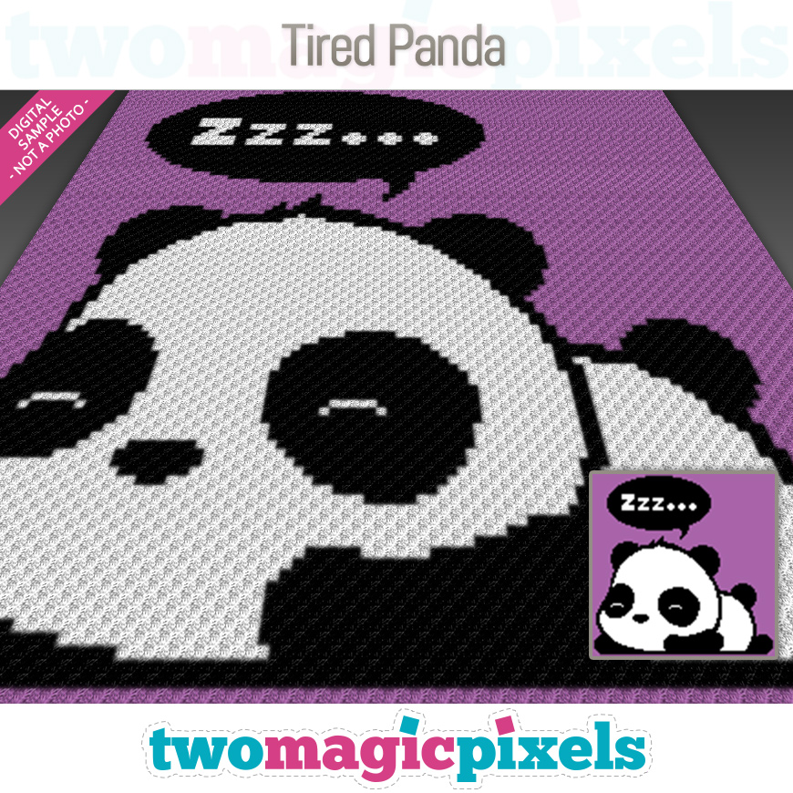 Tired Panda by Two Magic Pixels