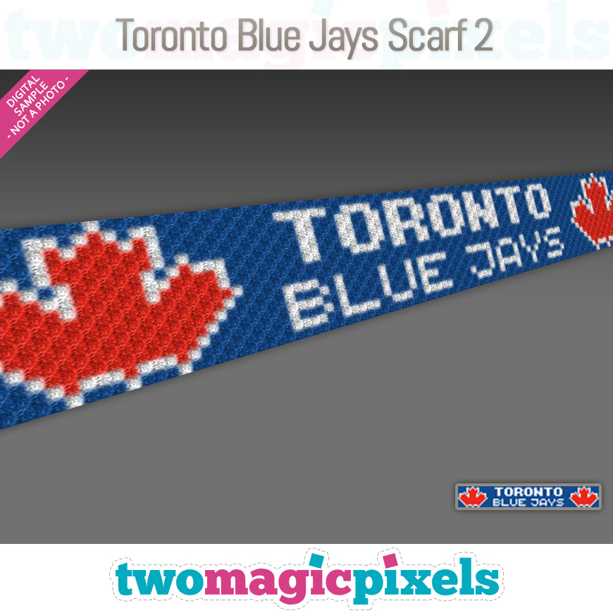 Toronto Blue Jays Scarf 2 by Two Magic Pixels