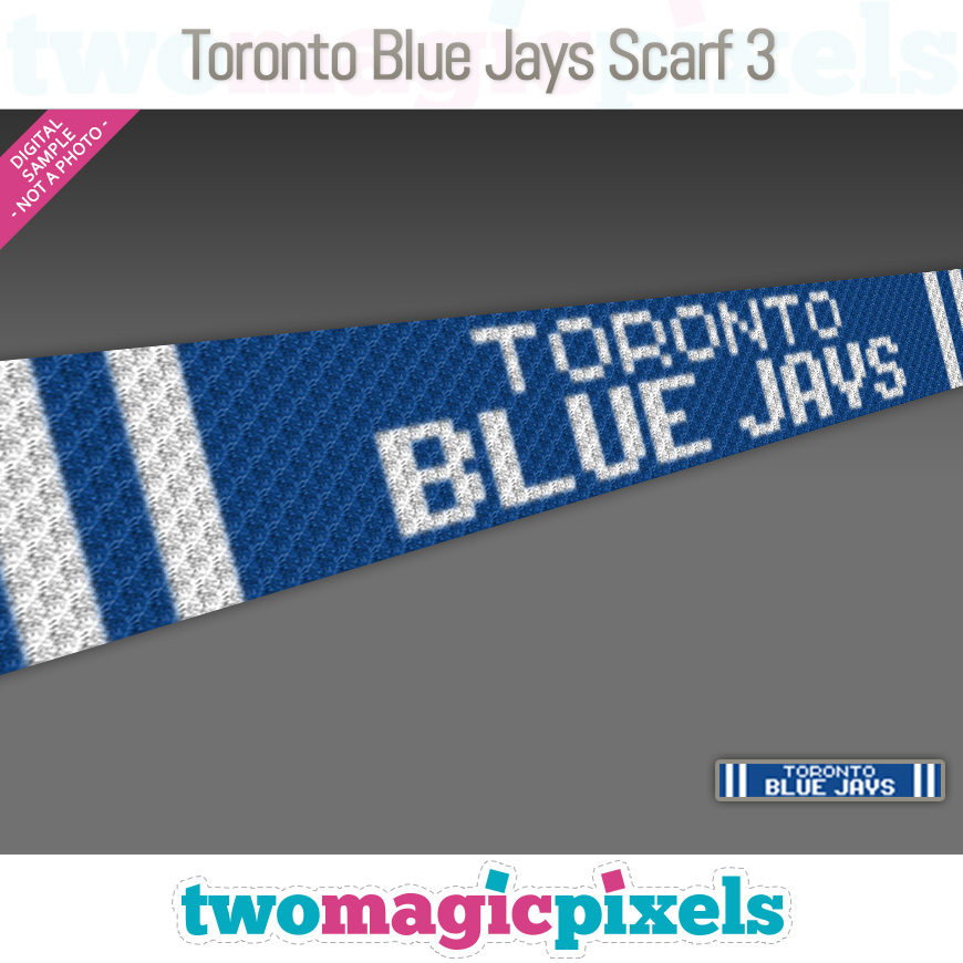 Toronto Blue Jays Scarf 3 by Two Magic Pixels
