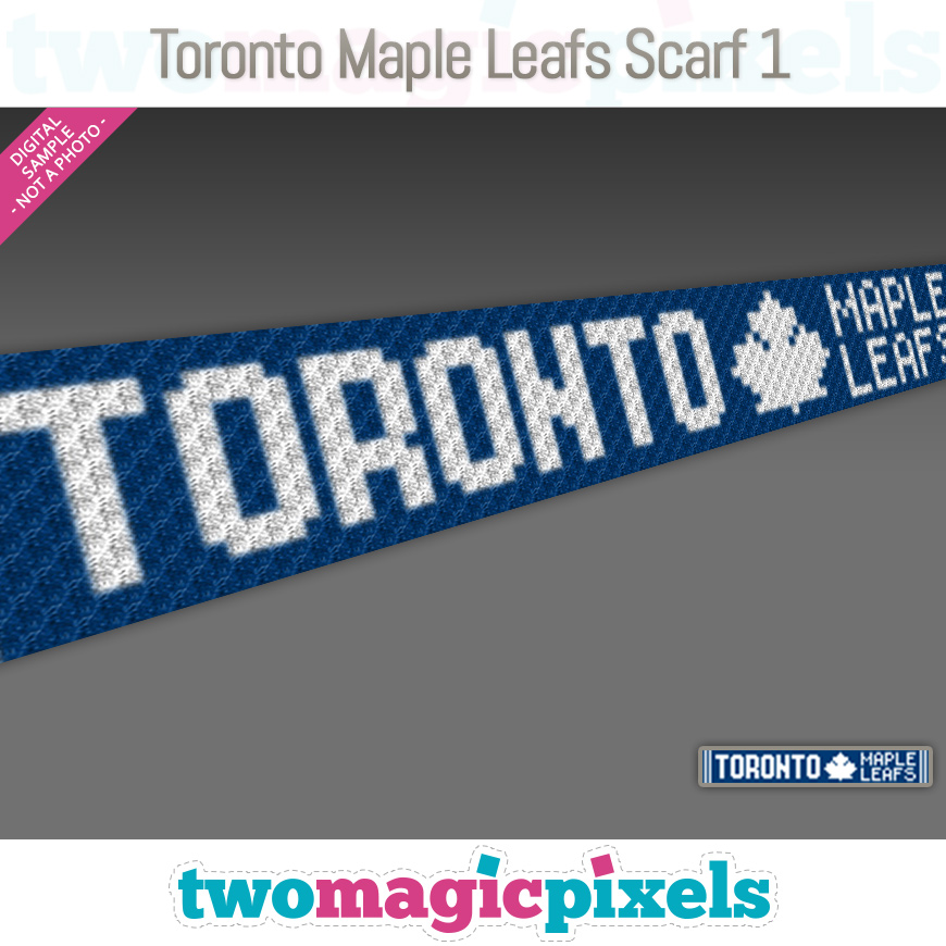 Toronto Maple Leafs Scarf 1 by Two Magic Pixels