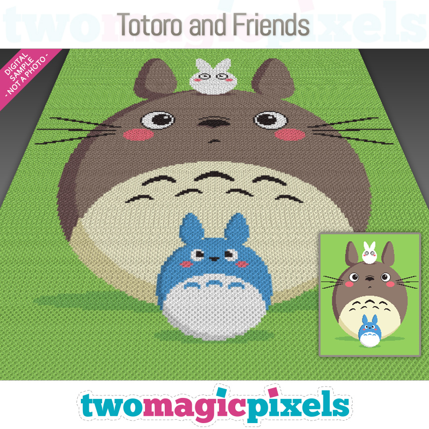 Totoro and Friends by Two Magic Pixels