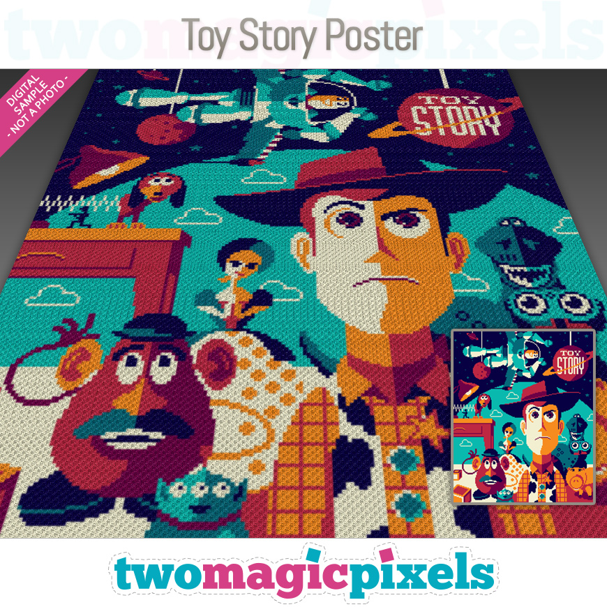 Toy Story Poster by Two Magic Pixels