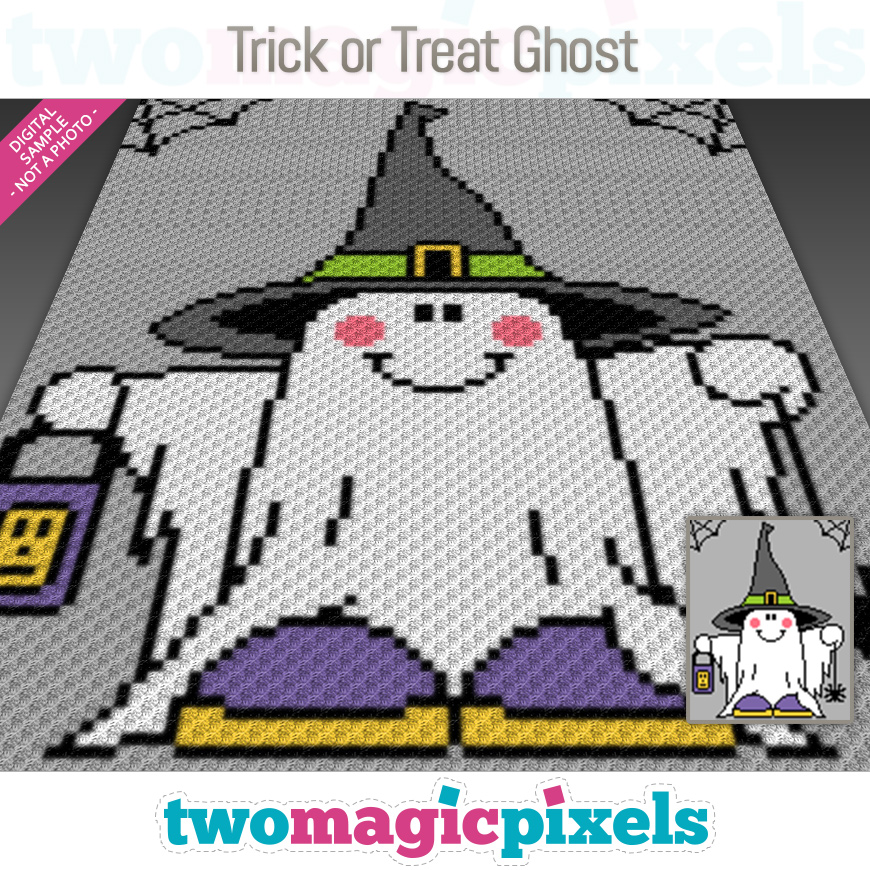 Trick or Treat Ghost by Two Magic Pixels