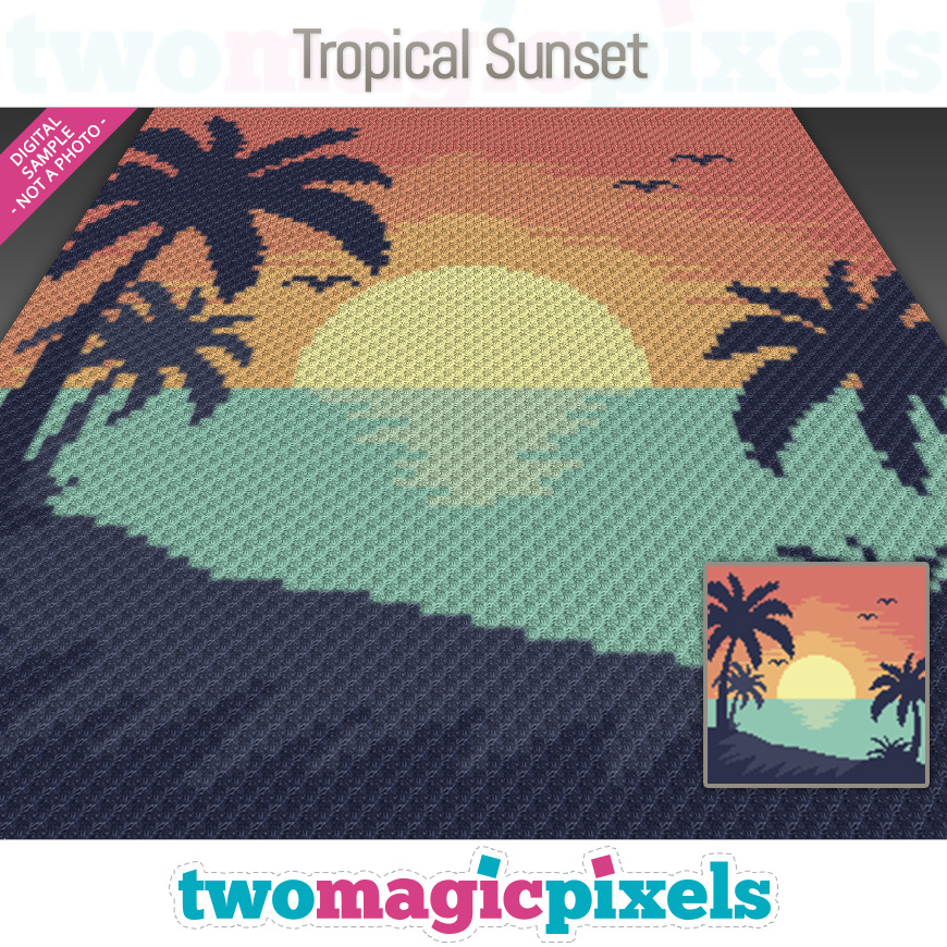 Tropical Sunset by Two Magic Pixels