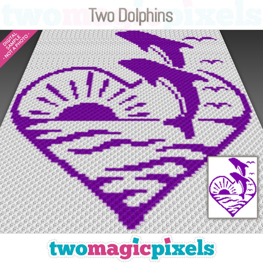 Two Dolphins by Two Magic Pixels