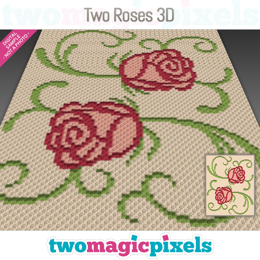 Two Roses 3D by Two Magic Pixels